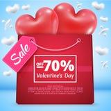Πώληση 70 τριών κόκκινη μπαλονιών Στοκ Εικόνες