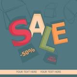 Πώληση, τσάντες και εκπτώσεις επίσης corel σύρετε το διάνυσμα απεικόνισης Στοκ Εικόνα