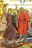 Πώληση των αναμνηστικών στο αβαείο Mont Saint-Michel. Νορμανδία, φράγκο στοκ φωτογραφία