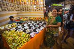 Πώληση των καρυκευμάτων στις αγορές της Ινδίας Στοκ φωτογραφίες με δικαίωμα ελεύθερης χρήσης