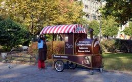 Πώληση των ψημένων κάστανων Στοκ φωτογραφίες με δικαίωμα ελεύθερης χρήσης