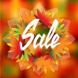 Πώληση φθινοπώρου εικονιδίων ανασκόπηση ζωηρόχρωμη Στοκ Εικόνα