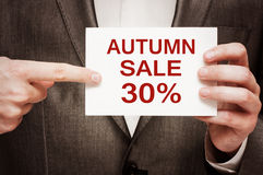 Πώληση φθινοπώρου 30 τοις εκατό μακριά Στοκ εικόνα με δικαίωμα ελεύθερης χρήσης