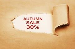 Πώληση φθινοπώρου τριάντα τοις εκατό μακριά Στοκ εικόνες με δικαίωμα ελεύθερης χρήσης
