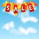 Πώληση φθινοπώρου υποβάθρου Στοκ Εικόνες