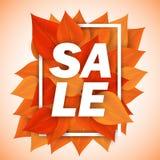 Πώληση φύλλων φθινοπώρου διανυσματική απεικόνιση