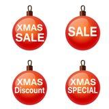 Πώληση Χριστουγέννων. Σύνολο σφαιρών. Weihnachtskugel Στοκ φωτογραφίες με δικαίωμα ελεύθερης χρήσης