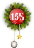 Πώληση 15% Χριστουγέννων Στοκ φωτογραφίες με δικαίωμα ελεύθερης χρήσης