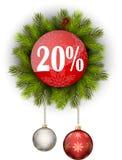 Πώληση 20% Χριστουγέννων Στοκ φωτογραφία με δικαίωμα ελεύθερης χρήσης
