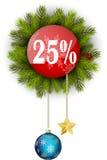Πώληση 25% Χριστουγέννων Στοκ Εικόνες
