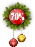 Πώληση 70% Χριστουγέννων Στοκ φωτογραφία με δικαίωμα ελεύθερης χρήσης