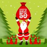 Πώληση Χριστουγέννων Santa Στοκ εικόνες με δικαίωμα ελεύθερης χρήσης