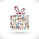 Πώληση δώρων ενδυμάτων Στοκ φωτογραφία με δικαίωμα ελεύθερης χρήσης