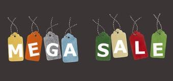 Πώληση tage Ετικέττες δώρων που απομονώνονται στο μαύρο υπόβαθρο Ετικέτες πώλησης Στοκ Εικόνες