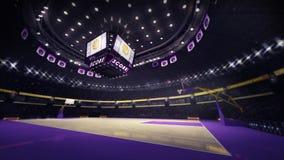 Πλάγια όψη γωνίας γήπεδο μπάσκετ Στοκ Εικόνες