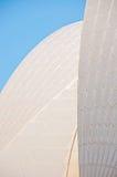 Τμήμα της στέγης Οπερών του Σίδνεϊ Στοκ Εικόνες