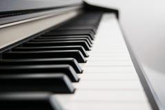 πλάγια όψη πιάνων πλήκτρων Στοκ φωτογραφίες με δικαίωμα ελεύθερης χρήσης