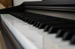 πλάγια όψη πιάνων πλήκτρων Στοκ Φωτογραφία