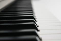 πλάγια όψη πιάνων πλήκτρων Στοκ Εικόνες