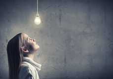 Πλάγια όψη του κοριτσιού Στοκ εικόνες με δικαίωμα ελεύθερης χρήσης