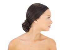 Πλάγια όψη του πανέμορφου brunette Στοκ Φωτογραφίες