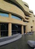 Πλάγια όψη του σμιθσονιτικού Εθνικού Μουσείου του αμερικανικού Ινδού Στοκ εικόνα με δικαίωμα ελεύθερης χρήσης