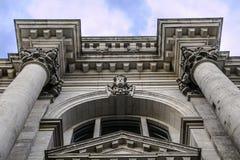 Πλάγια όψη του reichstag που χτίζει το Βερολίνο Στοκ Φωτογραφία