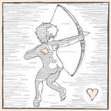 Πλάτη Cupid Στοκ φωτογραφία με δικαίωμα ελεύθερης χρήσης