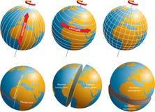 Πλάτος-γεωγραφικό μήκος διανυσματική απεικόνιση