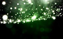 Πλέγμα κυμάτων πράσινου φωτός με τη σκόνη μορίων Στοκ φωτογραφίες με δικαίωμα ελεύθερης χρήσης