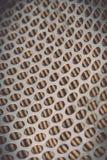 Πλέγμα μετάλλων του φίλτρου αέρα αυτοκινήτων για το υπόβαθρο Στοκ φωτογραφία με δικαίωμα ελεύθερης χρήσης
