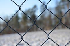 Πλέγμα περίφραξης καλωδίων Στοκ Φωτογραφία
