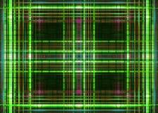 Πλέγμα Πράσινων Γραμμών Στοκ Εικόνα