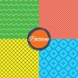 Πλέγμα ρόμβων και άνευ ραφής συστάσεις γραμμών κυμάτων διανυσματική απεικόνιση