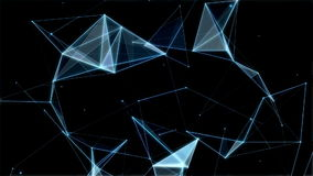 Πλέγμα των αφηρημένων γραμμών, των τριγώνων και των σημείων τεχνολογίες φιλμ μικρού μήκους