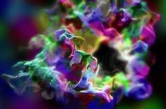 Πλέγμα των όμορφων μορίων, τρισδιάστατη απεικόνιση Στοκ Φωτογραφίες