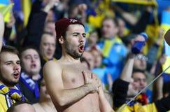 Πλέι-οφ του 2016 ΕΥΡΏ UEFA για τελικό: Σλοβενία β Ουκρανία Στοκ φωτογραφία με δικαίωμα ελεύθερης χρήσης