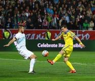 Πλέι-οφ του 2016 ΕΥΡΏ UEFA για τελικό: Σλοβενία β Ουκρανία Στοκ φωτογραφίες με δικαίωμα ελεύθερης χρήσης
