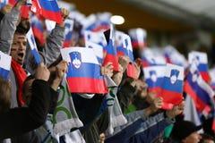 Πλέι-οφ του 2016 ΕΥΡΏ UEFA για τελικό: Σλοβενία β Ουκρανία Στοκ Εικόνα