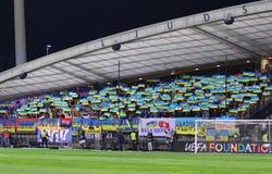 Πλέι-οφ του 2016 ΕΥΡΏ UEFA για τελικό: Σλοβενία β Ουκρανία Στοκ εικόνα με δικαίωμα ελεύθερης χρήσης