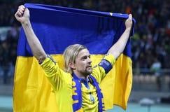 Πλέι-οφ του 2016 ΕΥΡΏ UEFA για τελικό: Σλοβενία β Ουκρανία Στοκ Εικόνες