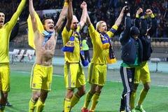 Πλέι-οφ του 2016 ΕΥΡΏ UEFA για τελικό: Σλοβενία β Ουκρανία Στοκ Φωτογραφίες