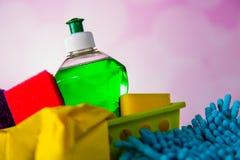 Πλένοντας και καθαρίζοντας εξοπλισμός, σύνολο καθαρισμού Στοκ φωτογραφία με δικαίωμα ελεύθερης χρήσης