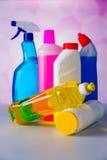 Πλένοντας και καθαρίζοντας εξοπλισμός, σύνολο καθαρισμού Στοκ εικόνες με δικαίωμα ελεύθερης χρήσης