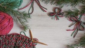 Πλέξιμο Χριστουγέννων στα δονούμενα χρώματα Στοκ Εικόνες