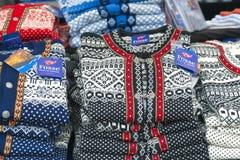 Πλέξτε τα μάλλινα πουλόβερ, Νορβηγία Στοκ Εικόνα