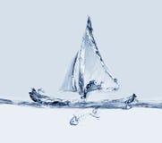 Πλέοντας βάρκα με Fishbone στοκ φωτογραφία