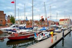 Πλέοντας βάρκες στο ιστορικό ναυτικό Στοκ Φωτογραφίες