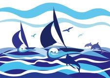 Πλέοντας βάρκες Στοκ εικόνα με δικαίωμα ελεύθερης χρήσης