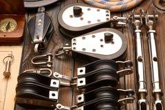Πλέοντας εξοπλισμός ξαρτιών γιοτ Στοκ φωτογραφία με δικαίωμα ελεύθερης χρήσης